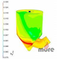 Hm. podíl vlhkosti na stěnách absorbéru u původního absorbéru