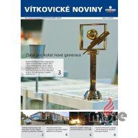Vítkovické noviny, hlavní strana. Kotel získal ocenění na strojírenském veletrhu.